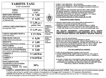 Taxi charges