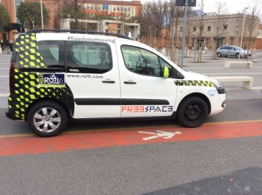 Equipped taxi for Differently abled people